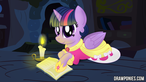 Princess Twilight Drawponies Background by drawponies
