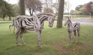 Driftwood horses by Lioness123