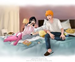 IchiRuki - Watching TV by Kotik-Stells