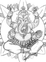 Ganesha by JRtheMonsterboy