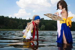 Rikku and Yuna FFx-2 by TheIdeaFix