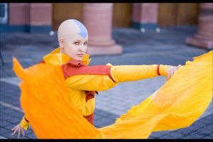 Avatar Aang by Honeyeater