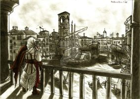 Ezio in Venice by Vladsnake