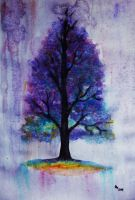Tree (watercolor) by AlexandraDart