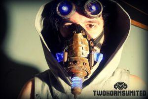 The Harvester wasteland teslapunk mask/goggles set by TwoHornsUnited