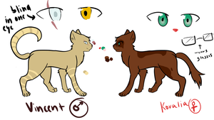 Vincent and Koralia (OC Refs for Ivypool) by 2pArtist