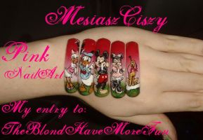 Nail art contest entry Pink by MesiaszCiszy