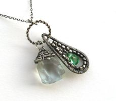 silver twin pendant by annie-jewelry