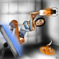 Portal 2 - a horrible person by Broken-Paperplanes