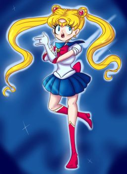 Sailor Moon by PixelHeartArt
