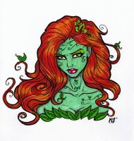 Poison Ivy Bust by CrimsonArtz