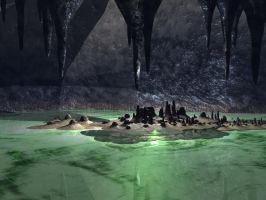 Inside of Cave Background by mysticmorning