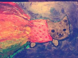 Melted Crayola nyan cat by chilindrini