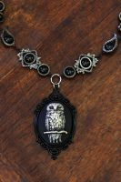 Neo Victorian Goth Jewelry - Necklace - Owl by CatherinetteRings