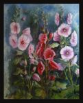 Hollyhocks by FroukjeVoortallen