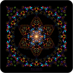 Stained Glass Window - Mandala by Lilyas