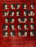 25 expressions challenge by TULIO19mx