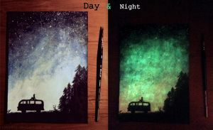 Magical night II - painting by lyyy971