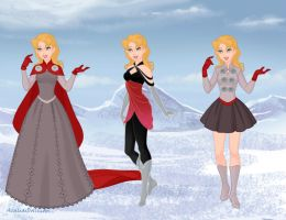 Thor Frozen Dresses by aminelovercantdraw