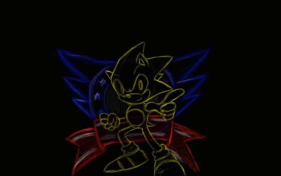 Classic Sonic Wallpaperthingie by SonicPro