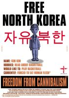 Free North Korea - KIM KIM by mxmx