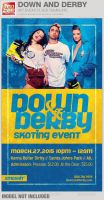 Down and Derby Skating Event Flyer Template by loswl