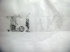 unfinished lettering by idielastyr