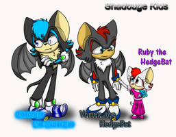 Shadouge Kids Reference Sheet by NeonFlower