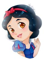 Chibi Snow-White (Speedpaint) by Meg-Marmite