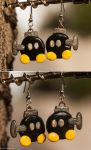 Mario Bob-Omb Earrings by Len-Corcino