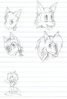 Floating heads sketches... bla by Hyperchaotix