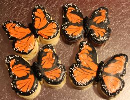 Monarch Butterfly Sugar Cookies by picworth1000wrds