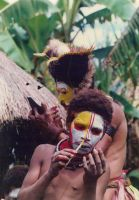 Natives Applying Face Paint by x110788
