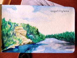 Mini-Painting-- Lakeside by SageFillyLuna