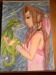 Aerith and her dragon by lustyvampire
