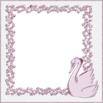 Decorative Frame - Pink Swan by PLACID85