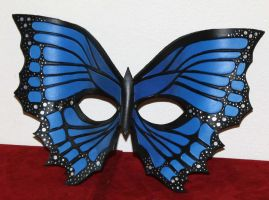 Electric Blue Butterfly Mask by Lady-Cass