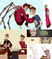 Invader Zim Doodle Dump by recostar