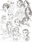 Disney Princesses (including Princess Leia!) by FuschiaPheonix
