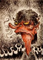 Redneck Hell ACEO- FOR SALE by thebigduluth