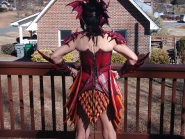 Dragoness Armor progress Back by Red-Dragon-Lord