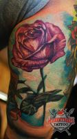 Ivan Realistic Rose by HammersmithTattoo