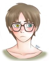 Heterochromiac!Eren with Glasses by ChibiStarChan