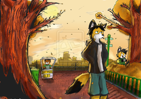 Just walking through the park by BrianTheFox
