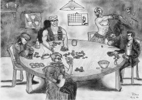 Poker night at Duke's by Fernoll
