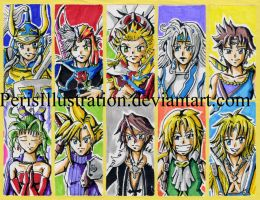 Dissidia Stickers by PerisIllustration