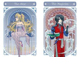 Tarot Dawn and Master by Moemai