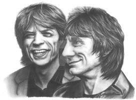 Mick Jagger and Ronnie Wood by Jumping-Jack-Flash
