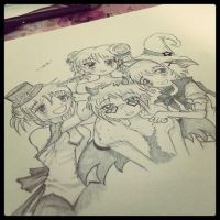 Still learning in sketching animes by eychadevil