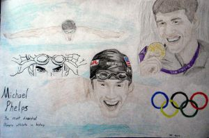 Michael Phelps color by ConsultingTimeLord96